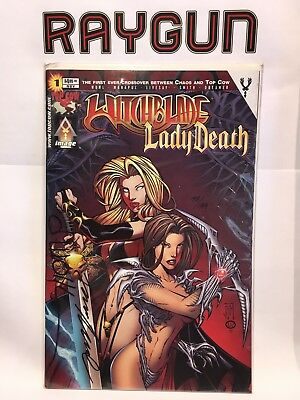 Witchblade Lady Death #1 Dynamic Forces Signed w/COA NM- 1st Print Top Cow