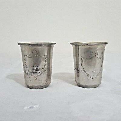 Silver cups for vodka Signed P84