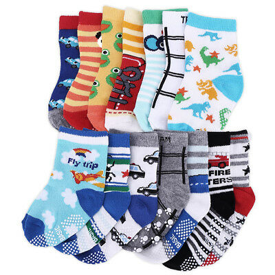 14 Pairs Cotton Baby Boy Girl Anti Slip Ankle Socks Toddlers Kid ABS 1-3 Year