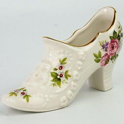 James Kent Old Foley Harmony Rose China Boot Shoe Ornament Staffordshire England