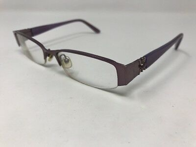 04d60bdab435 Authentic ELIZABETH ARDEN Eyglasses EAPT62A-3 Half Rim 50-17-130mm Purple  W452