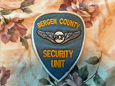 Bergen County Police New Jersey Security Unit Patch