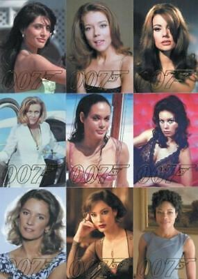 James Bond Autographs & Relics 007 Gold Gallery Chase Card Set GG39 thru GG47