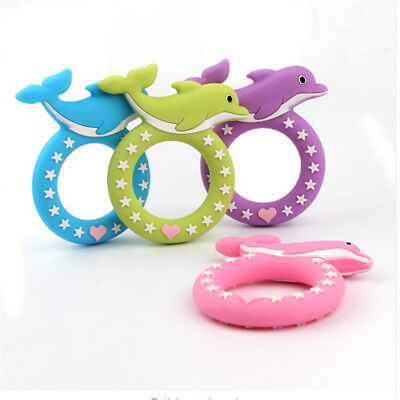 Dolphin Safety Baby Toddler Teether Silicone Soft Cartoon Chew Toys Teeth Stick