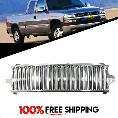 for Silverado 99 to 02 Suburban 00 to 06 Tahoe Vertical Style Grill Chrome