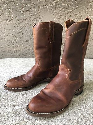 a92099573f4 FRYE WESTON ROPER Mens Size 7 Brown Leather Mid Calf Pull On Boots Shoes