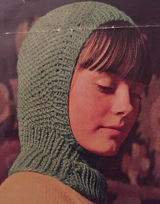 Cg24 Knitting Pattern Kids Wooly Balaclava Helmet Hat Childrens