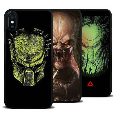 For iPhone Samsung Galaxy Alien Predator Movie Silicone Phone Case Cover Skin