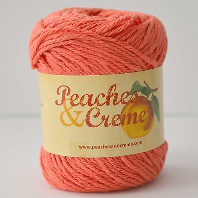 YARN PEACHES CREME Cream Cotton Variegated Ocean Coral new