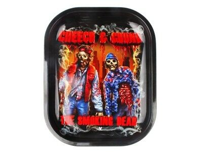 V-Syndicate CHEECH & CHONG ZOMBIE Cigarette Tobacco Metal Rolling Tray 7x5
