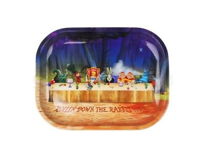 V-Syndicate ALICE TEA PARTY Cigarette Tobacco Metal Small Rolling Tray 7x5