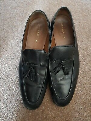 d66f5562854 Smart Mens zara black leather tassel loafers size 9