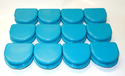 12 Dental Orthodontic Retainer Denture Mouth Guard Case Bleach - Turquoise