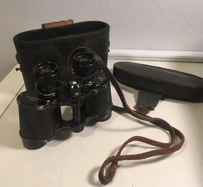 Vintage Paris H.v.clement Binoculars Coated 8X25 W/ Strap & Box Made In France