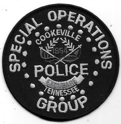 """Police Patch: Special Operations Cookeville Tennessee Police Group 4"""""""