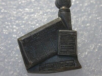 Vintage Silver 1968 Antique Trader Newspaper Loyal Service Pin