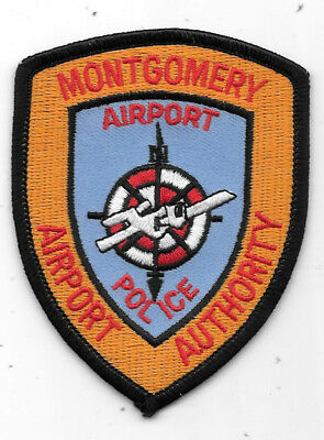 "Police Patch: Montgomery Airport Authority Police Alabama Measures 3"" X 3 1/2"""