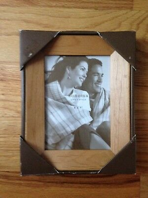 NEW Sonoma Natural Wood Picture Frame for 5x7 Photo