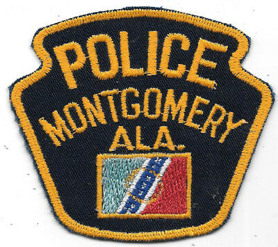"Police Patch: Montgomery Alabama Patch Measures 3 1/2"" X 3"""
