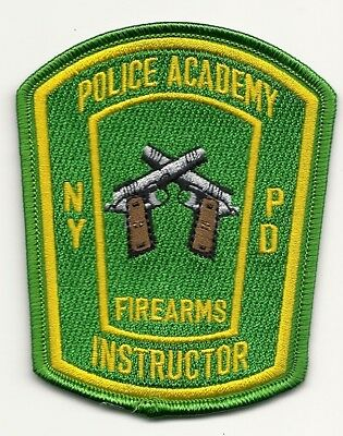 New York City Police Dept Academy Firearms Instructor Range Gun Pistol Nyc Patch