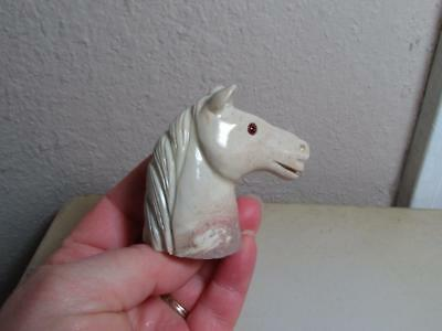 Horse Head, Hand carved Stone from the Andes of Peru. Rich Hued Horse, Unique