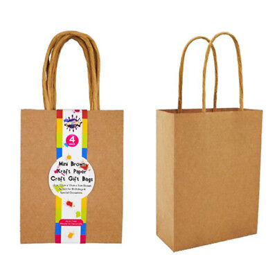 Small Kraft Brown Paper Party Carry Bags w/h Handle Shopping Bags Gift Bags 20CM