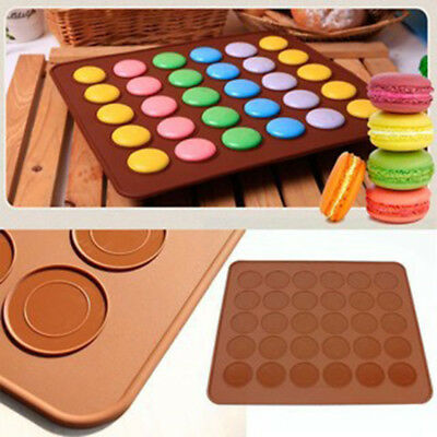 Silicone Pastry Muffin Cake Macaroon Oven Baking Mould Mold Sheet Mat