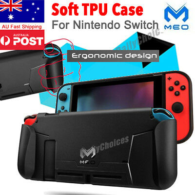 Soft TPU Case Shell For Nintendo Switch NS Console Handle Grip w/ Game Card Slot