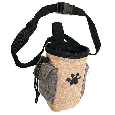 Pet Treat Pouch Dog Training Bag with Belt Carries Pet Treats Poop Bag Dispenser