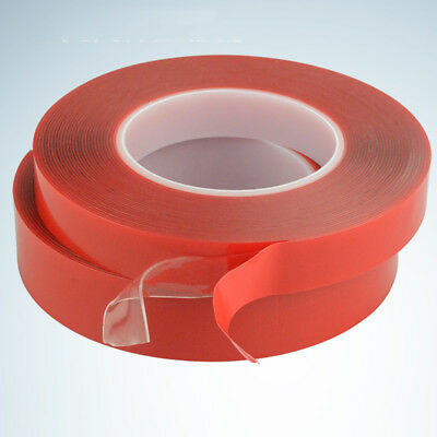 3m Red Double Sided Adhesive Tape High Strength Acrylic Gel Transparent No Trace