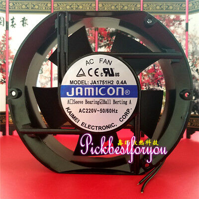 1 PCS JAMICON JA1751H2 AC 220V 0.4A 17251 2Wire Cooling Fan #M73A QL
