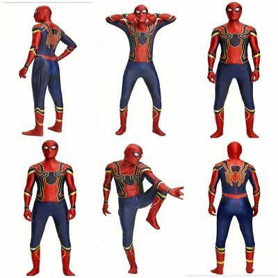 Kids/Adult Spiderman Cosplay Costume Superhero Party Mens Fancy Dress Outfit