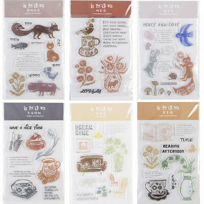 Plant Transparent Silicone Clear Rubber Stamp Diary Scrapbooking DIY Decor Craft