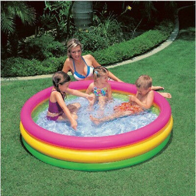 Portable Inflatable Swimming Pool Kids Family Play Water Outdoor Bathtub Swim US