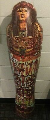Vintage Egyptian Mummy Sarcophagus Inflatable Blow Up Classroom Party Decor 4.5'
