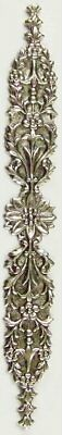Lovely Delicate Etched Oxidised Silver Bookmark Floral Art Nouveau Style USA