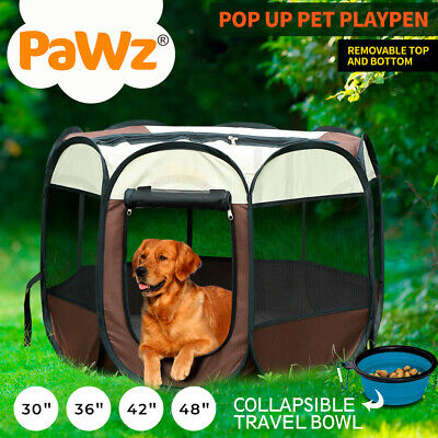 Pawz Pet Playpen Puppy Dog Cat Play Pen Crate Cage Enclosure Tent Panel Portable