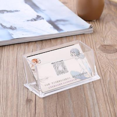 Clear Business Desktop Card Holder Acrylic Plastic Display Countertop Card Stand