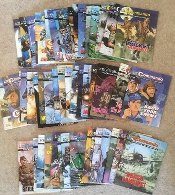 Commando comics 50 comic joblot 3900 range (no.s 3900 - 3949) 50 consecutive run