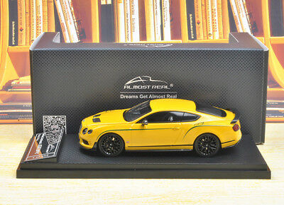 Almost real Bentley Continental GT3-R 2015 Yellow Color 1/43 Discast Model