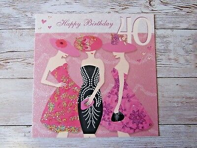 Stylish party ladies 40th birthday greetings cards age 40 stylish party ladies 40th birthday greetings cards age 40 greeting card g2 m4hsunfo