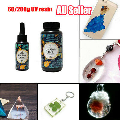 60/200g DIY UV Ultraviolet Resin Curing Solar Cure Sunlight Activated Hard DM