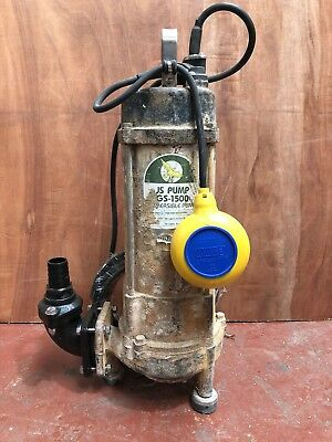 "Gs1500 Submersible Grinder Pump 1 1/4"" Sewage Pump - used"