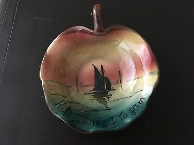 Royal Torquay Pottery Jam Dish - Sailing Boat - 'Help Yourself To Jam'