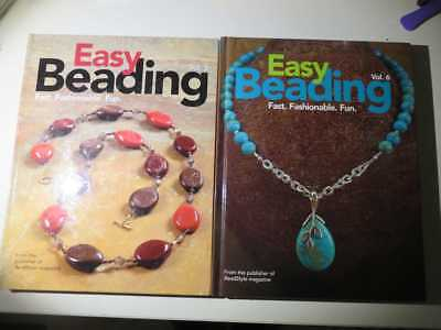 2 x Easy Beading books Volume 5 + 6 craft DIY jewellery making hardcover