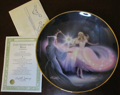 Cinderella Fairy Godmother's Magic - Franklin Mint collector plate