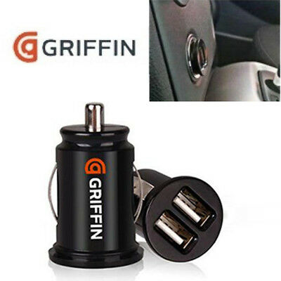 New GRIFFIN Twin USB Car charger cigarette lighter adapter for iPhones,Samsung