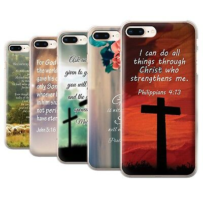 STUFF4 Phone Case/Back Cover for Apple iPhone 8 Plus /Christian Bible Verse