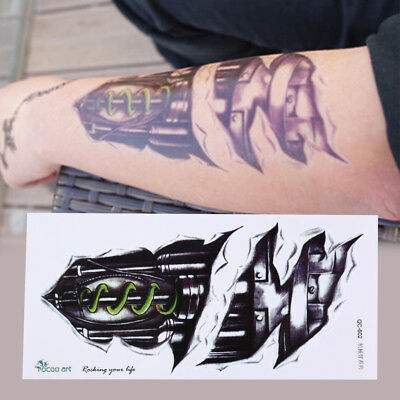 3D Wasserdicht Roboter Arm Tattoo Aufkleber Body Art Removable Tatoos Sm