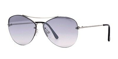 c175baaaaaf AUTHENTIC TOM FORD LUCA 02 FT 0650 18C Silver Sunglasses -  244.00 ...